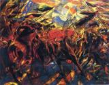 Les funérailles de l'anarchiste Galli, de Carlo Carra