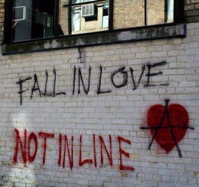 Fall in love, not in line