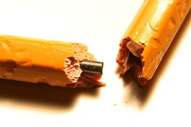 Crayon brisé